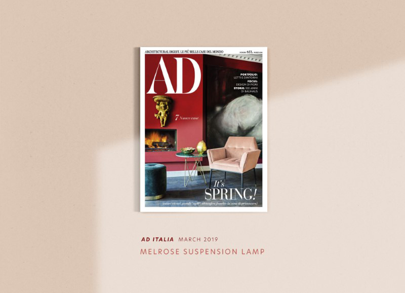 Ad magazine with creativemary's melrose suspension lamp