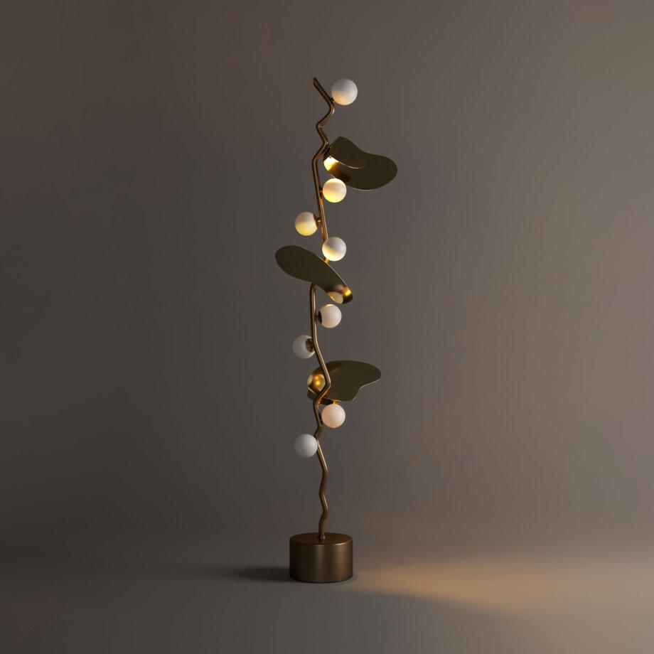 Almond floor lamp