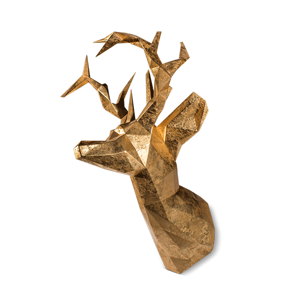 Antler head mount by Malabar