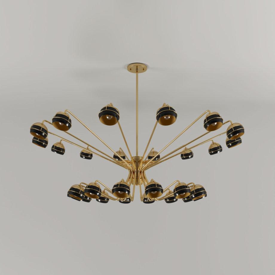 Black widow chandelier