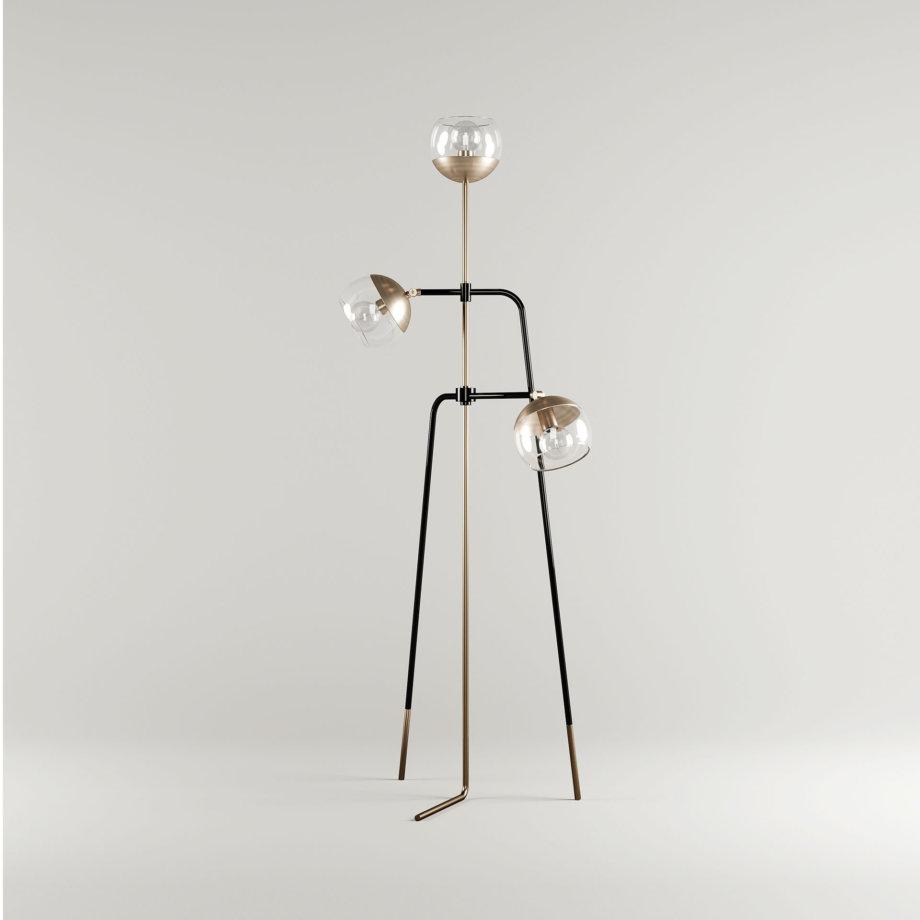 Black widow floor lamp