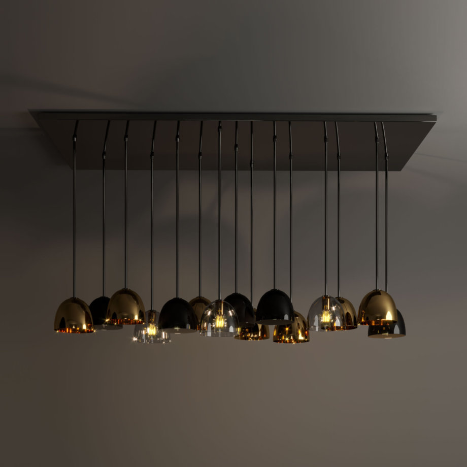Bombarda suspension lamp
