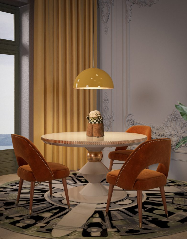 Shirley Dining Chair Ottiu and Brera Suspension Lamp designed by Creativemary