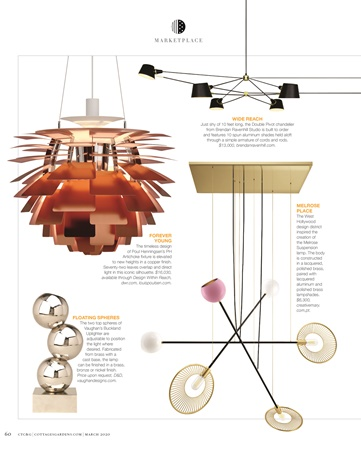 CTC&G Magazine featuring melrose suspension lamp