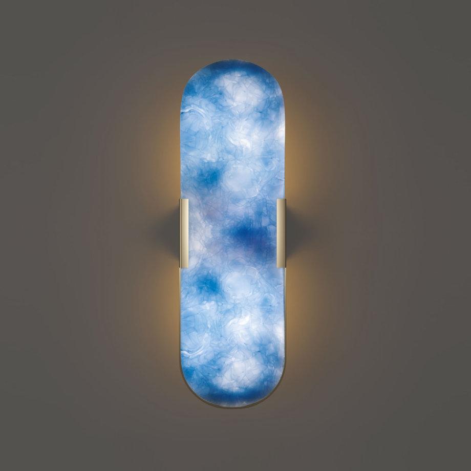 Dahlia glass wall lamp