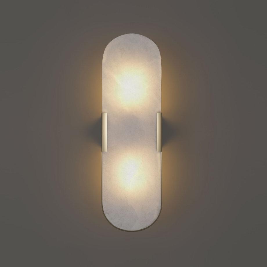 Dahlia alabaster wall lamp