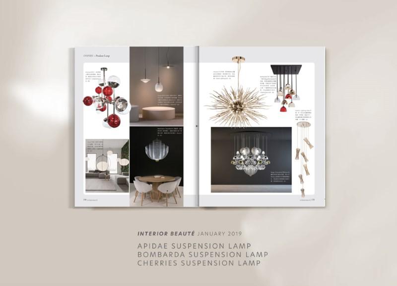 Berries suspension lamp by creativemary | luxury lighting e bombarda suspension lamp