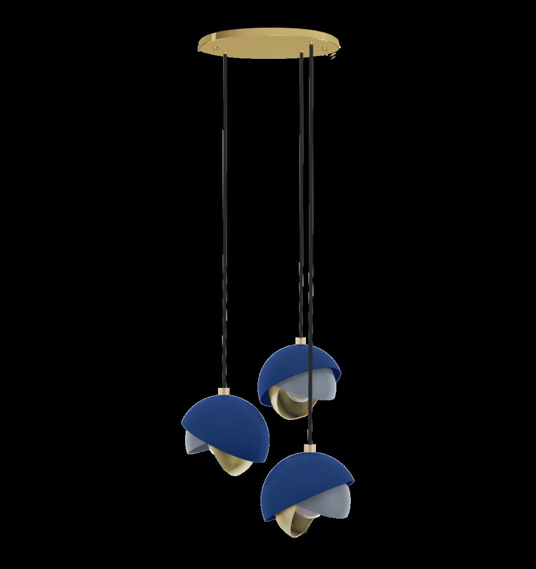Mandevilla Pendant Lamp featuring Classic Blue