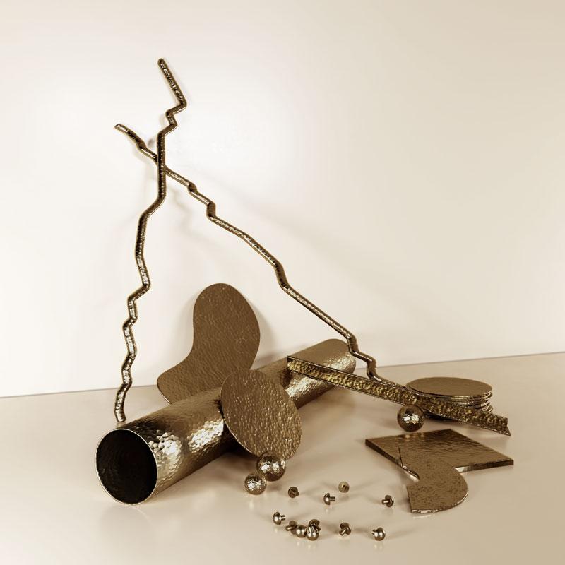 Hammered brass