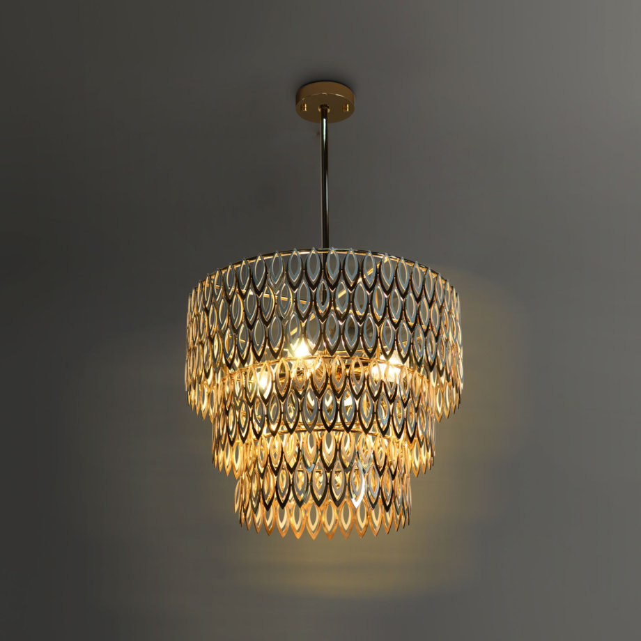 Petal suspension lamp