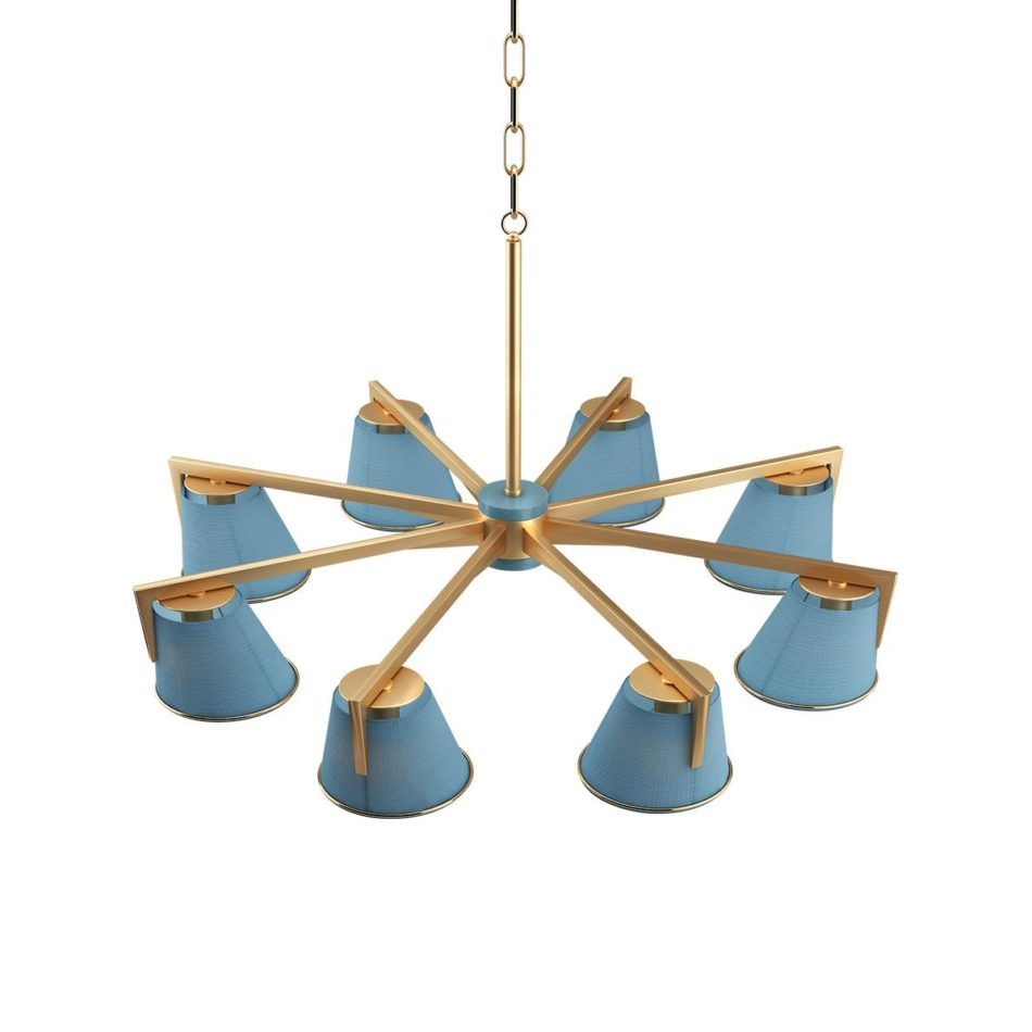 Santos Suspension Lamp Trendy Purist Blue Color