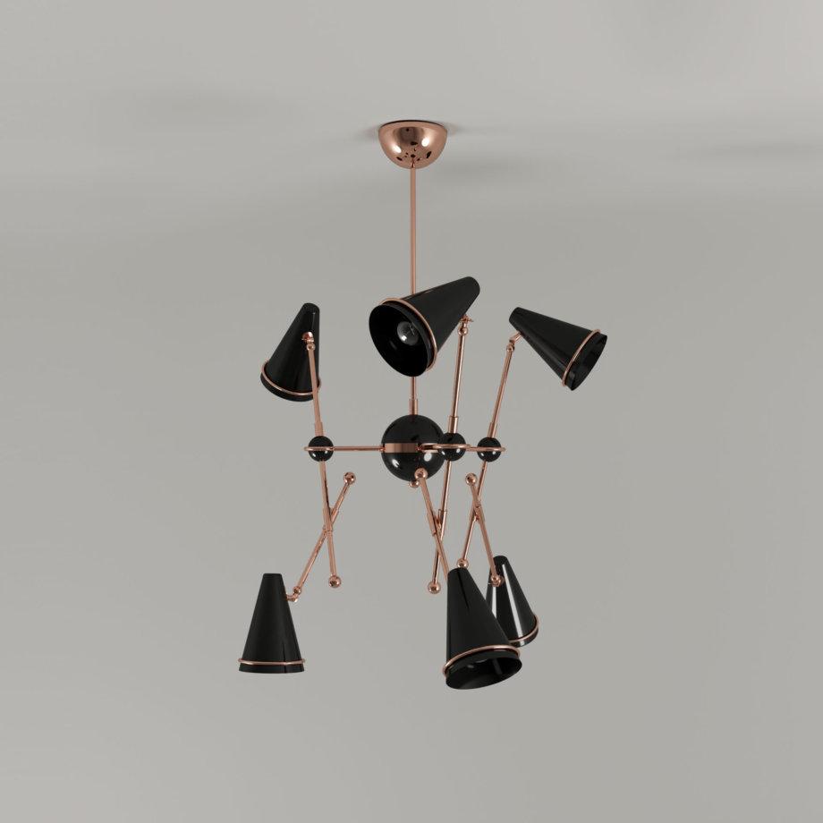 Tophane suspension lamp