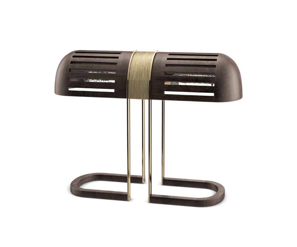 Turing table lamp by Wood Tailors Club