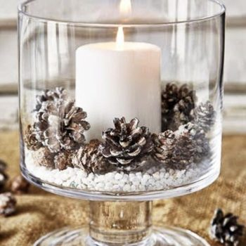 candle christmas decor