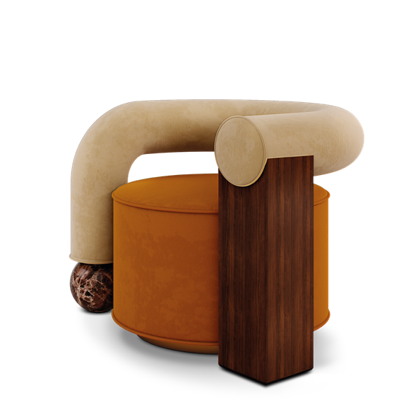 Galatea Armchair designed by Malabar
